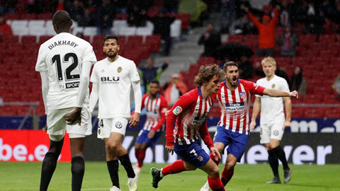 Atletico Madrid 3-2 Valencia